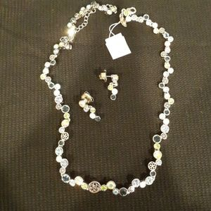"""Lia Sophia """"Happy hour"""" necklace and earrings"""